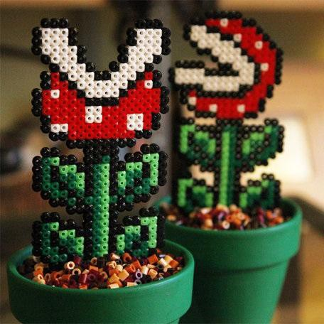 plante piranha carnivore mario en plastique 8bits. Black Bedroom Furniture Sets. Home Design Ideas