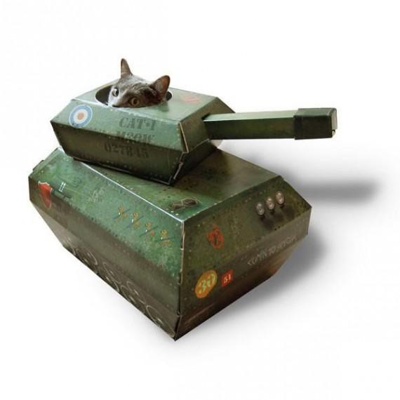 Maison pour Chat Tank
