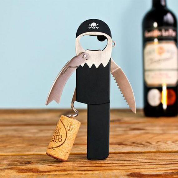 Tire-bouchon/décapsuleur Pirate