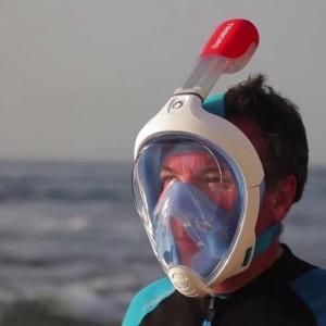 Masque de plongée révolutionnaire Tribord Easybreath