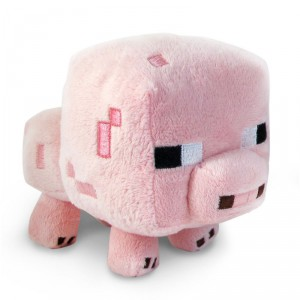 Peluche cochon Minecraft