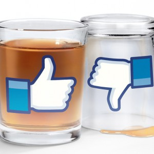 Verres à shooters Like Facebook