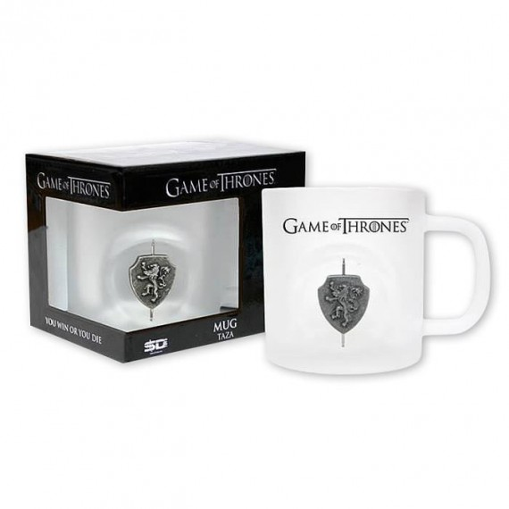Mug Game of Thrones en verre écusson rotatif Lannister