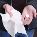 Le cachet qui se transforme en serviette