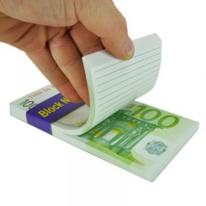 Bloc-Notes billets 100 euros