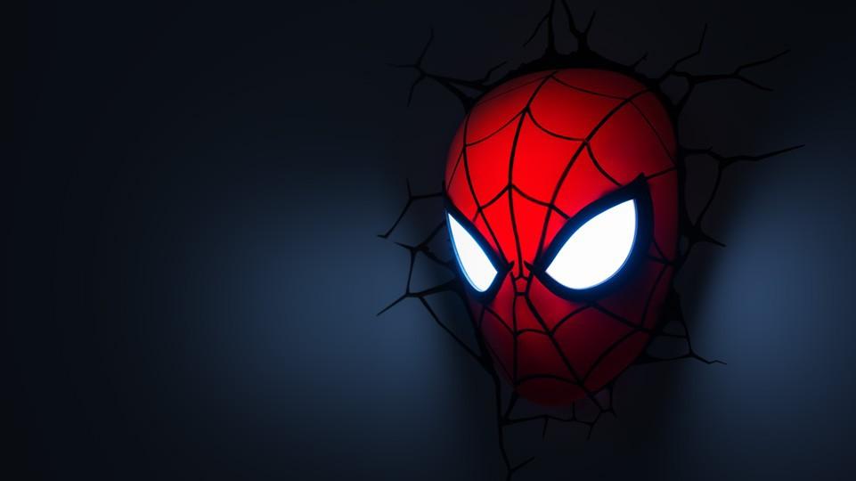 lampe murale 3d marvel spider man. Black Bedroom Furniture Sets. Home Design Ideas