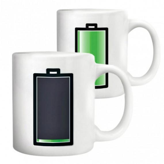 Mug Batterie Thermoréactif blanc
