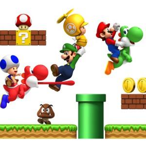 Autocollants Super Mario pour murs