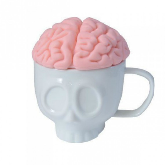 Mug Tasse Tête de Mort et son Couvercle Cerveau
