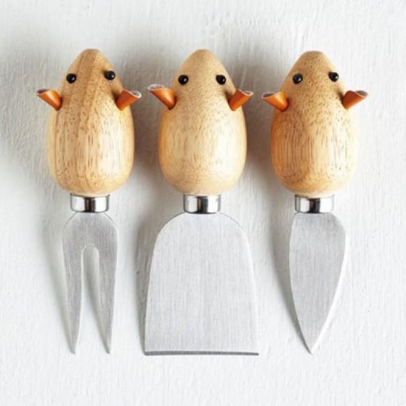 """Set de 3 couteaux à fromage """"Souris"""""""