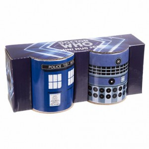 Pack de 2 mini mugs Doctor Who Tardis et Dalek