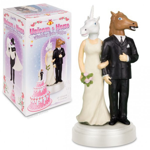 Figurines Gâteau de mariage licorne et cheval