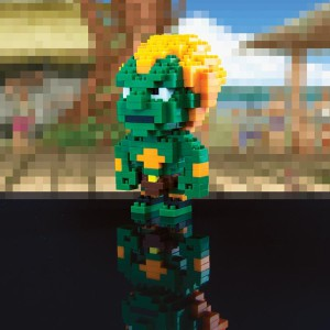 Blanka pixelisé de street fighter capcom
