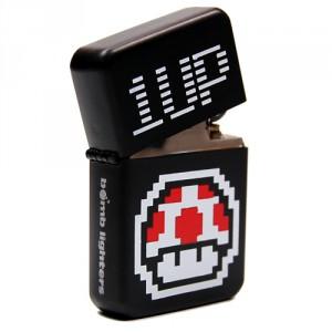 Briquet Champignon 1up Tempête essence pixel