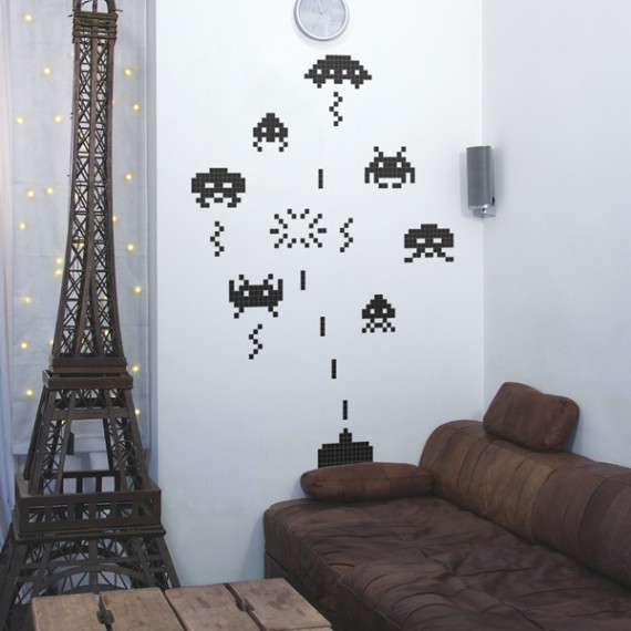 Stickers Space Invaders Warzone