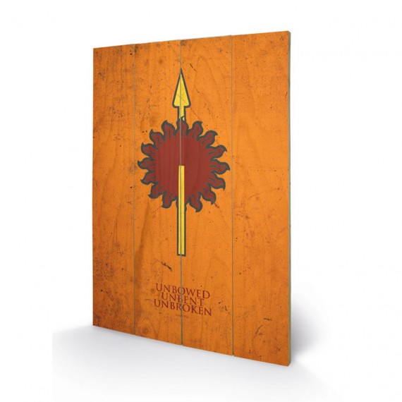 Panneau en bois famille martell game of thrones for Decoration murale game of thrones