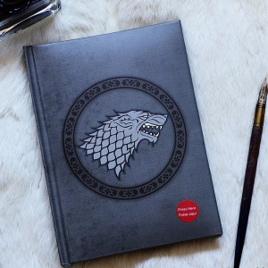 Cahier lumineux Stark Game of Thrones