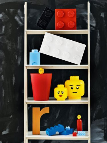 bo te de rangement petite t te fille lego. Black Bedroom Furniture Sets. Home Design Ideas