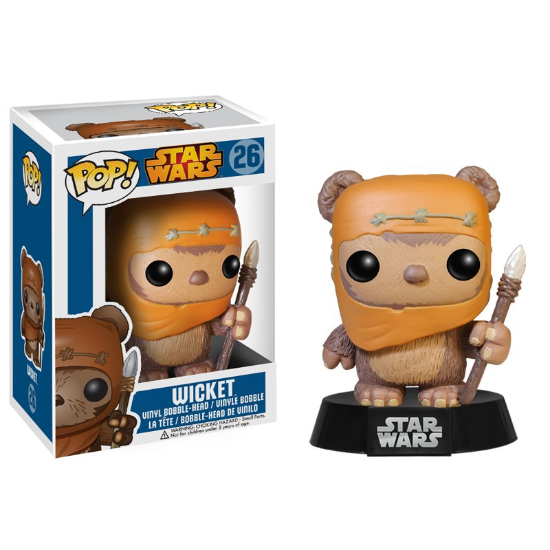 figurine pop bobble head star wars ewok. Black Bedroom Furniture Sets. Home Design Ideas