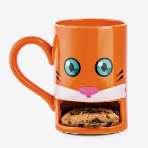 Mug chat avec emplacement pour cookie