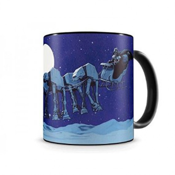Mug Star Wars édition noel Darth Vader & Traineau AT-AT