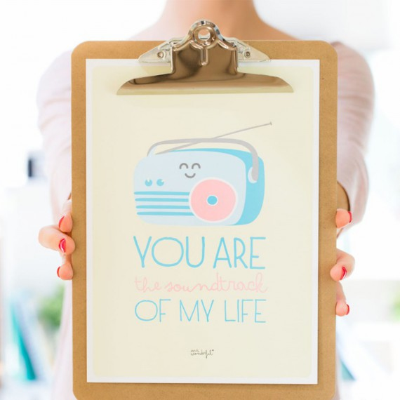 Affiche summer en relief – You are the soundtrack of my life