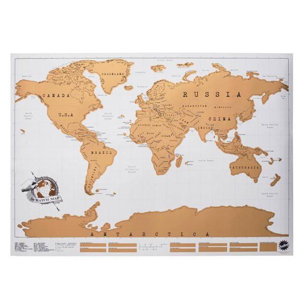 carte du monde à gratter xxl