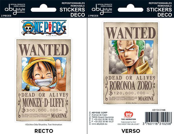 Stickers one piece wanted luffy zoro commentseruiner - One piece wanted luffy ...