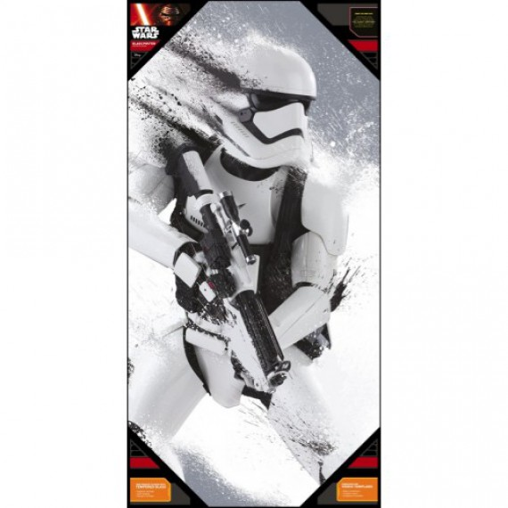 Poster en Verre Star Wars Episode 7 Stormtrooper Snow