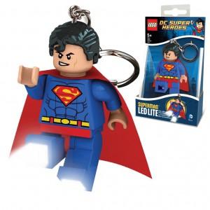 Mini lampe de poche avec chaînette Superman