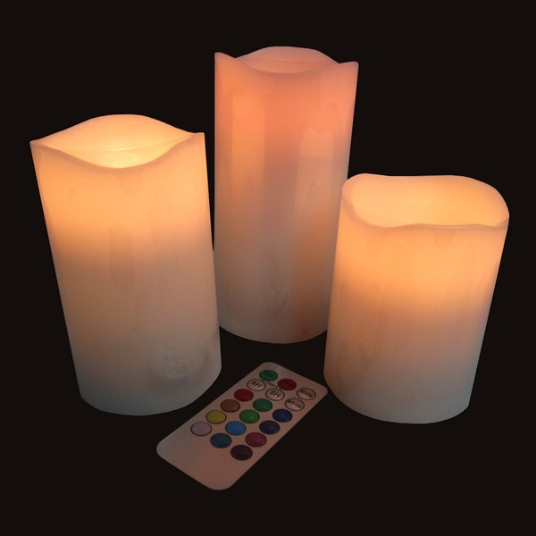 bougies led x 3. Black Bedroom Furniture Sets. Home Design Ideas