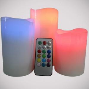 Bougies LED x 3
