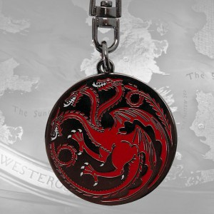 Porte-clés Game of Thrones Targaryen Métal
