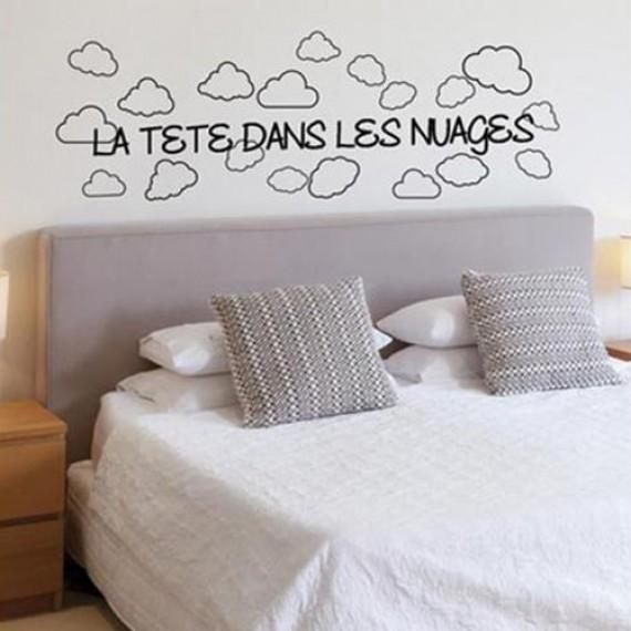 Sticker tête dans les nuages