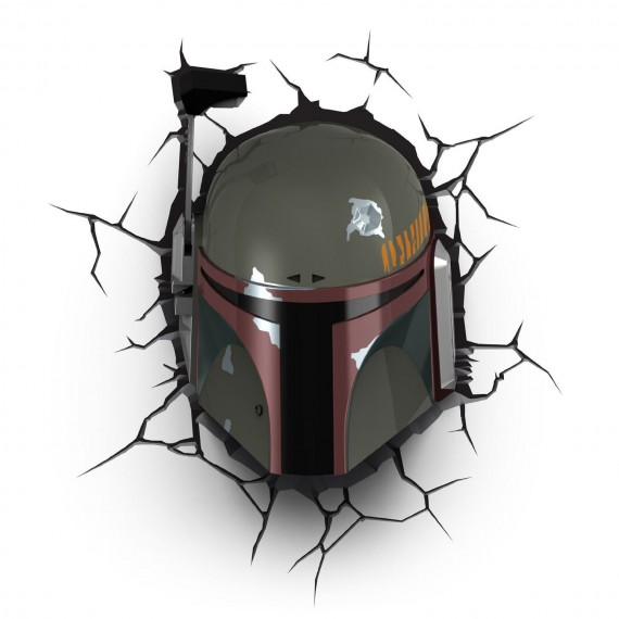 Applique murale 3D Deco light Boba Fett Star Wars