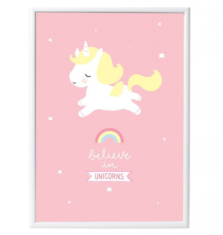 Affiche murale b b licorne commentseruiner for Decoration licorne chambre