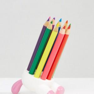 Pot à crayons de couleur licorne