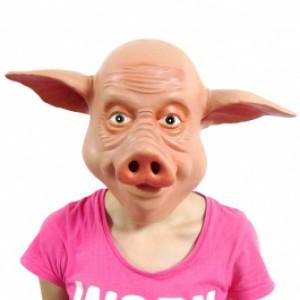 Masque de cochon en latex