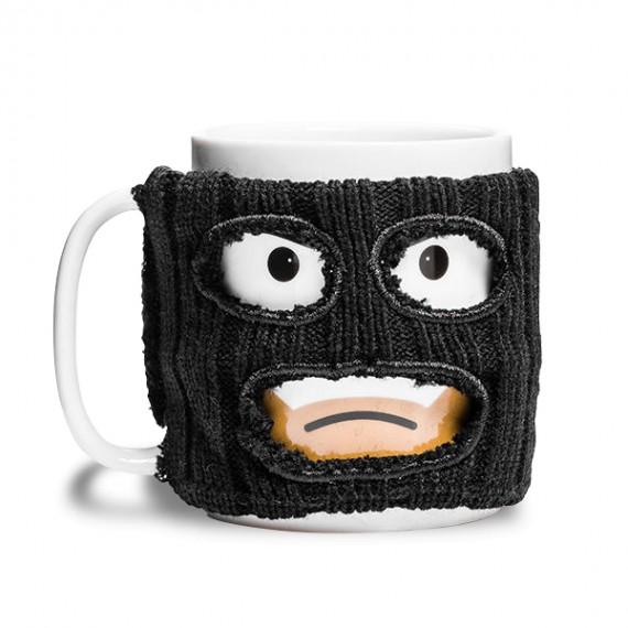 Mug bande avec cagoule noire