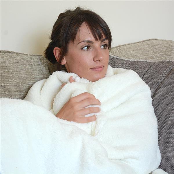 Snug rug plaid polaire commentseruiner - Couverture polaire avec manches ...