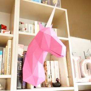 Sculpture en papier, Mallo la Licorne