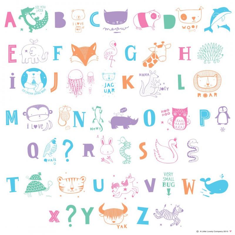 Lettres pastel pour lightbox - Lettres alphabet originales ...