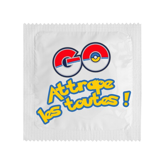 Préservatif Attrape les toutes ! Pokémon GO