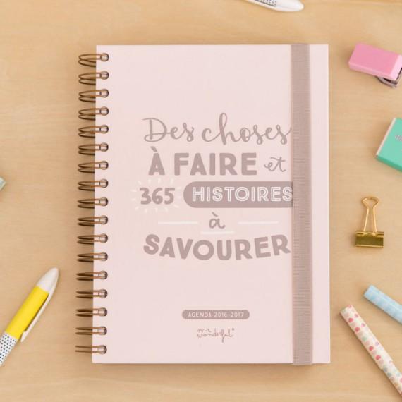 Agenda 2016/2017 - Des choses à faire & 365 histoires à savourer