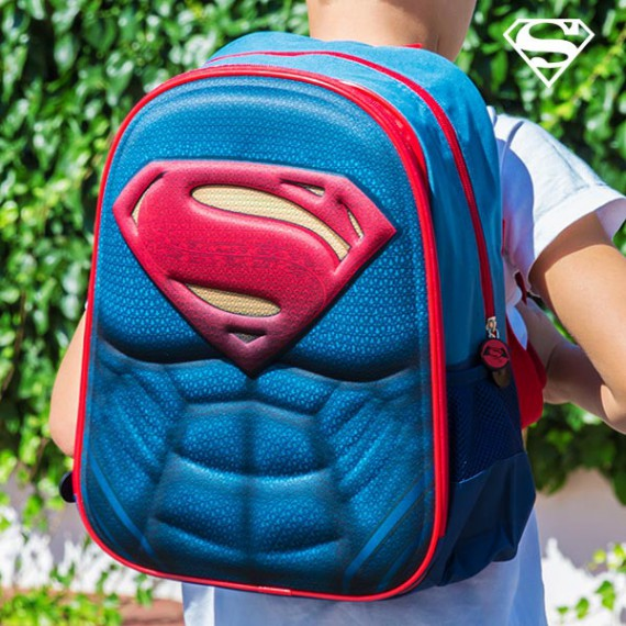 Sac à dos scolaire 3D - Superman