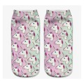 Chaussette Socquette Licorne All Over