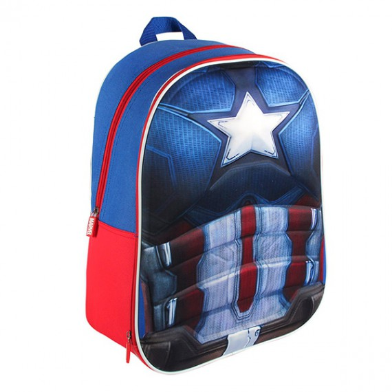 Sac à dos scolaire 3D Captain America
