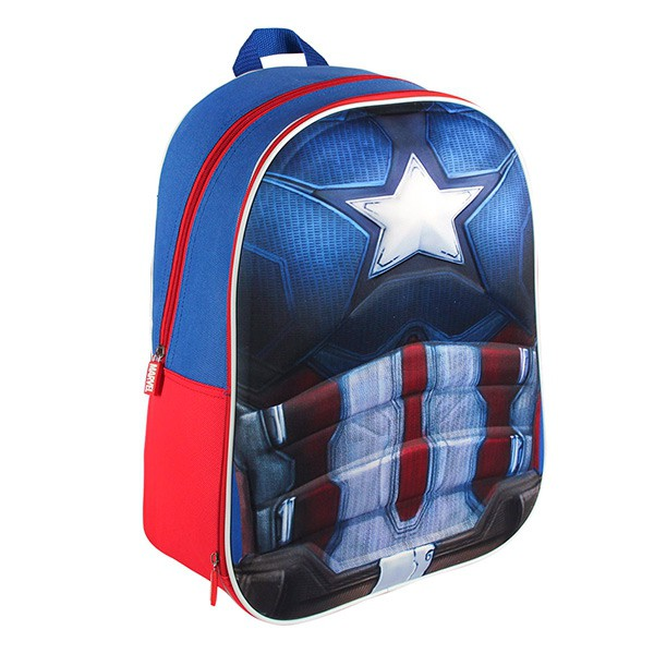 sac dos scolaire 3d captain america. Black Bedroom Furniture Sets. Home Design Ideas