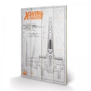 Panneau en Bois Star Wars X-Wing Plans