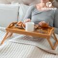 Plateau petit déjeuné en bambou